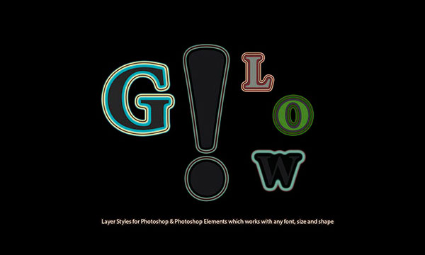 Glow Layer Styles Available for Free on Adobe Add-ons