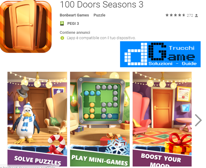 Soluzioni 100 Doors Seasons 3 livello 1-2-3-4-5-6-7-8-9-10 | Trucchi e Walkthrough level