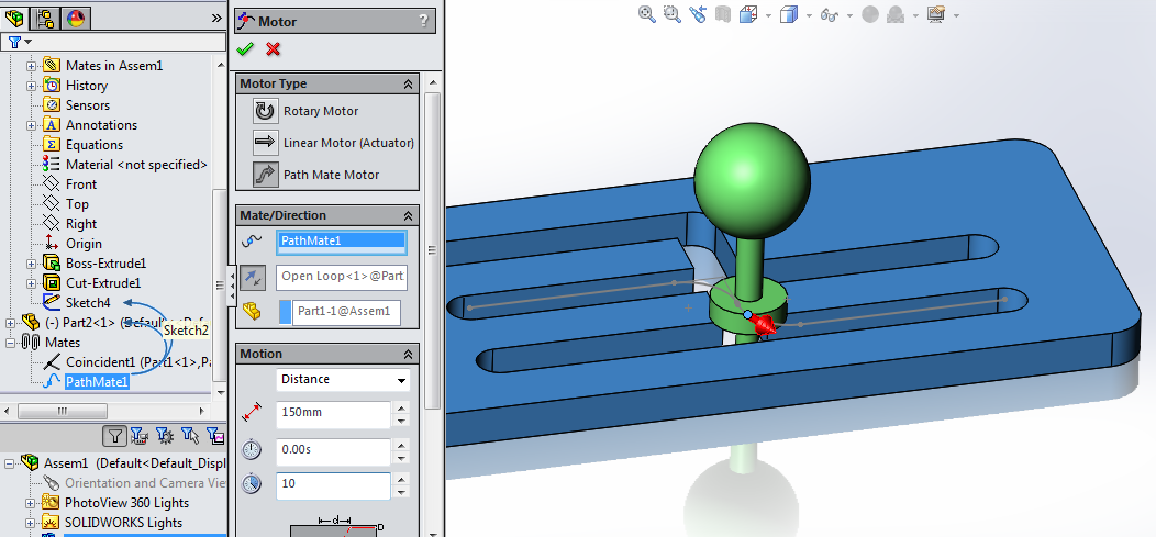 how to delete a motion study in solidworks