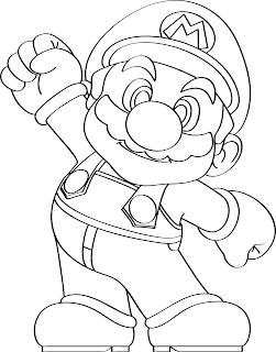 Desenho Super Mario para colorir e imprimir
