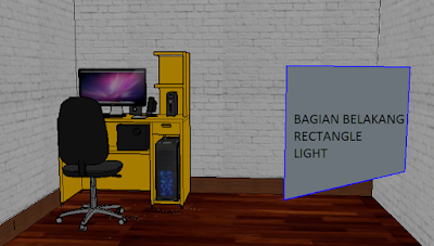 cara setting rectangle light vray sketchup