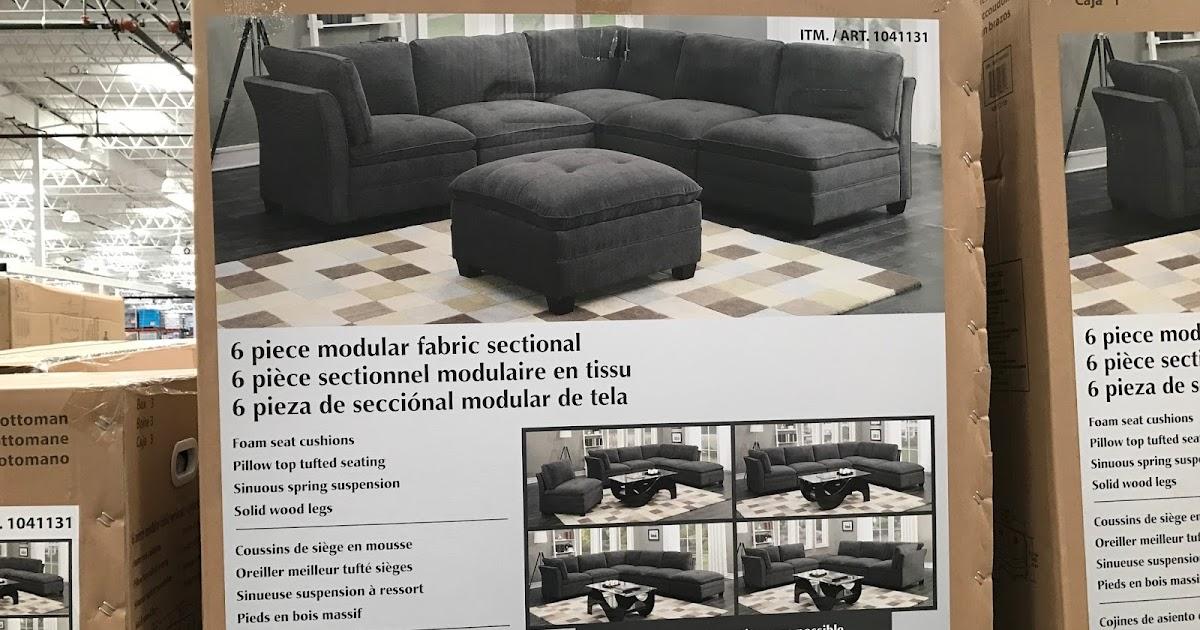 6 Piece Modular Fabric Sectional Costco Weekender