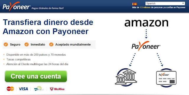 retirar dinero que te ganes en amazon utilizando payoneer