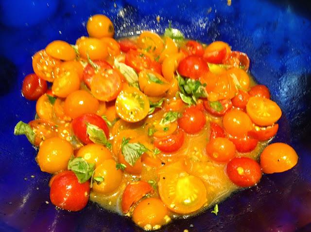 marinated cherry tomato sauce