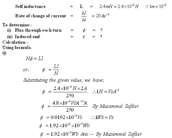 F Sc Physics and F Sc Mathematics : P No 15 7:- A solenoid