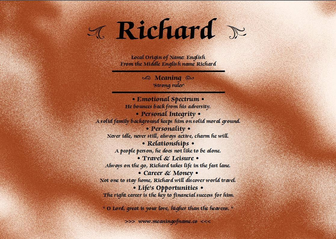 what does richard mean as a name