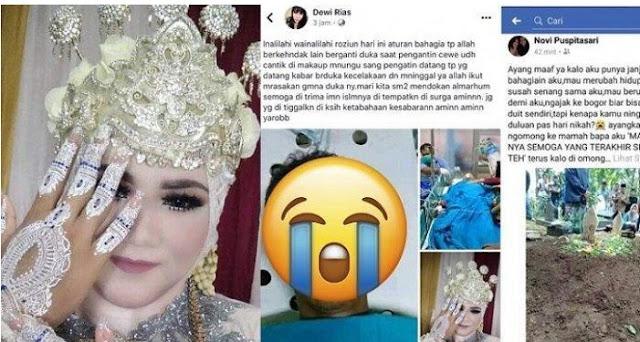 TRAGIS, Pengantin Wanita Sudah Cantik Dirias,Dan Calon Suami Meninggal Kecelakaan Jelang Akad Nikah