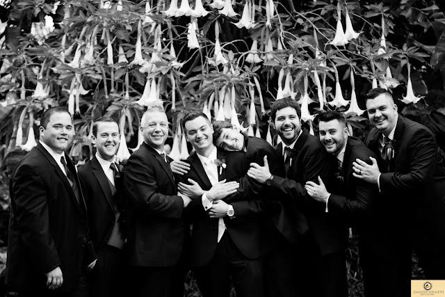 Orlando wedding photographers-bw groomsmen