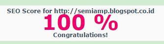 semi amp blogge template score seo