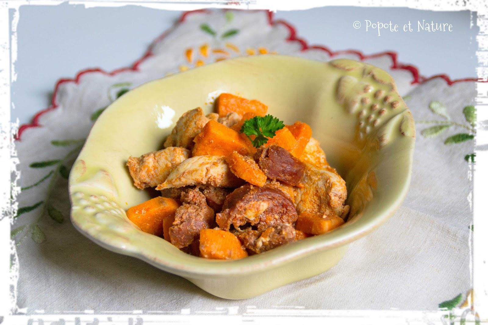 Popote et nature une fricass e de poulet aux parfums - Quand recolter les patates douces ...