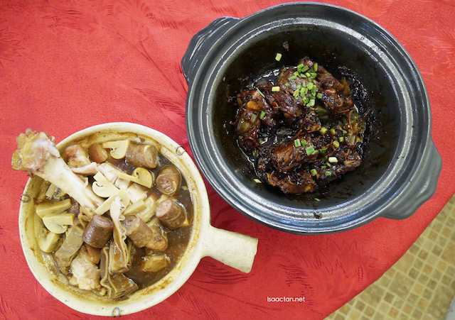 Two of Fong Keow's signature Bak Kut Teh dishes, side by side