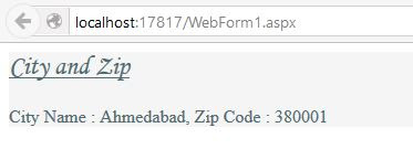 How to get City and Zip through IPAddress in Asp Net - Asp