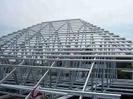 contoh rangka atap baja ringan minimalis pasang jayawan