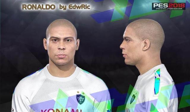 Ronaldo Nazario Face PES 2018