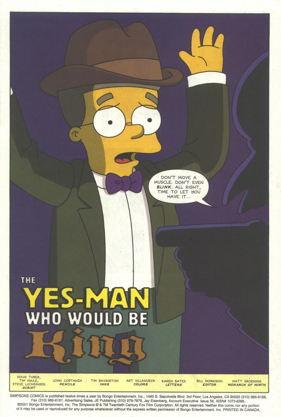 Read online Simpsons Comics comic -  Issue #56 - 2