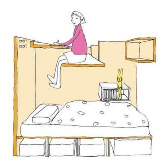 Habitaciones juveniles para espacios peque os ideas decoraci n ig - Dormitorios juveniles espacios pequenos ...