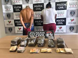 Polícia prende casal com R$ 5 mil e 6 kg de maconha na PB