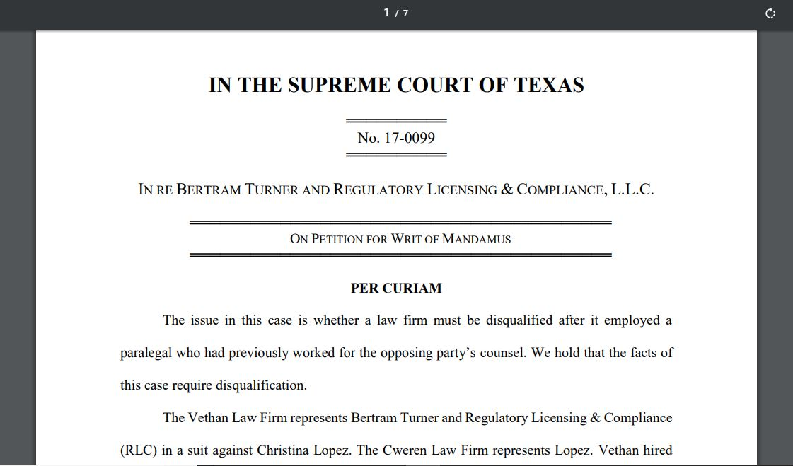 the opposing case of texas v Per curiam supreme court of the united states its decision and remand the case for further proceedings texas, when he noticed a.