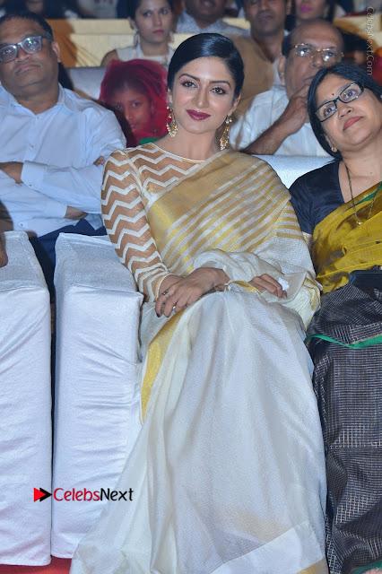 Actress Vimala Raman Stills in White Silk Saree at Om Namo Venkatesaya Audio Launch Event  0004.JPG