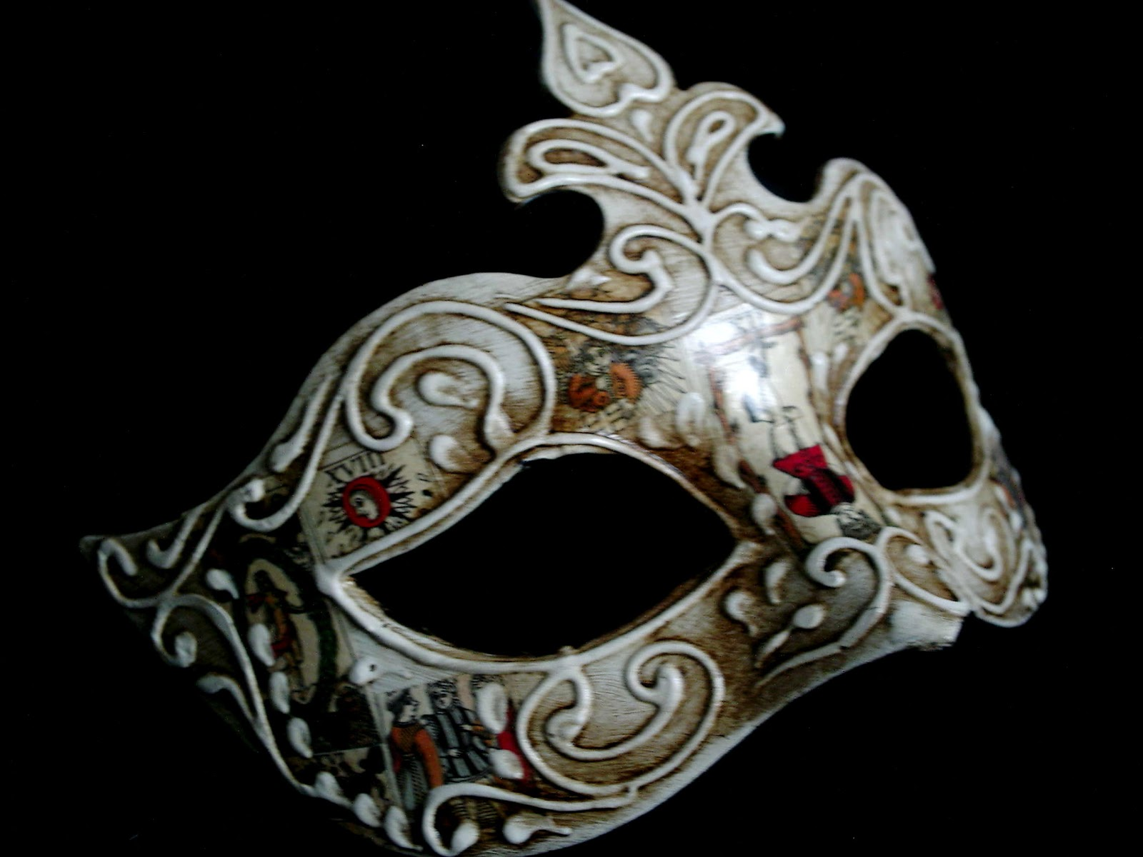 At a Glance: This Venetian Masquerade Mask Cosima is a version of the traditional Colombina mask. This is #3 in out Cosima luxury style masks for women. This mask is .