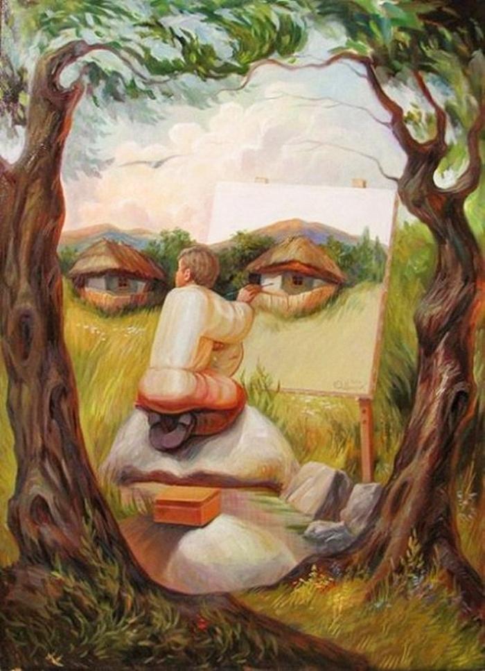 Олег Шупляк 1967 | Optical illusionist painter