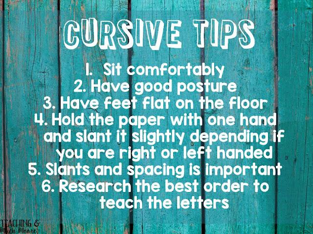 cursive tips