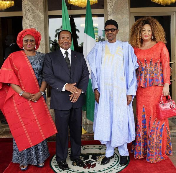 Paul biya au Nigeria
