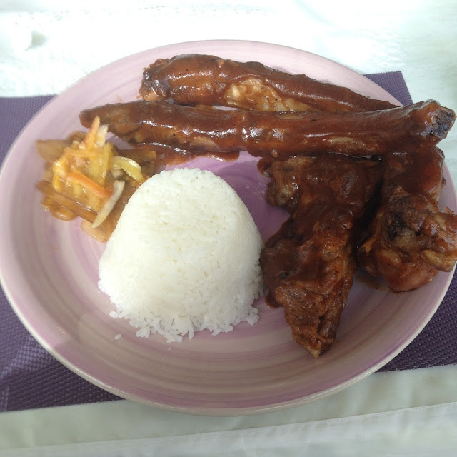 sweetened pork ribs at Purple Craves Cafe