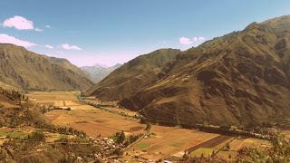 Vale do Urubamba Visto do Mirador Taray, no Peru