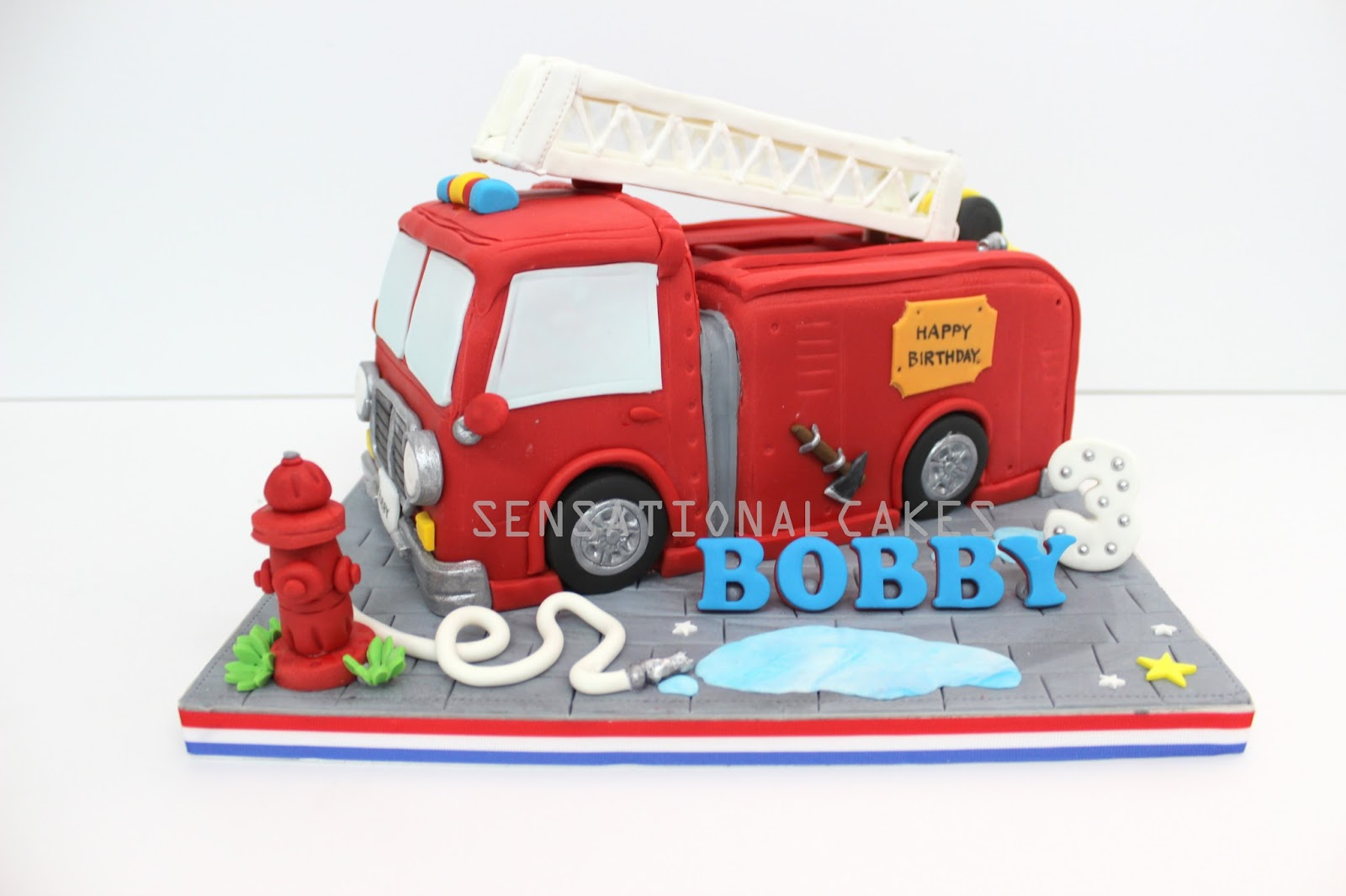 The Sensational Cakes FIRE ENGINE CAKE SINGAPORE FIREMAN CAKE