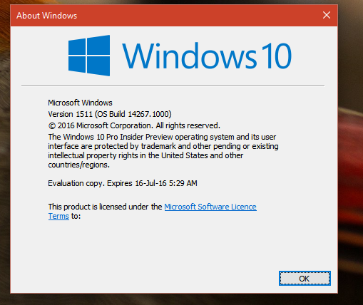 Windows 10 expiry date
