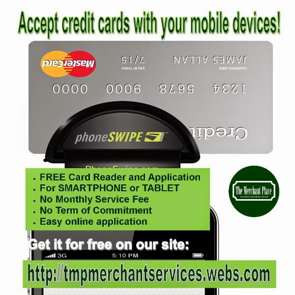 The merchant place business services dont lose sales for Accept business credit card
