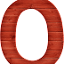 Abecedario Rojo de Madera. Red Wooden Alphabet.