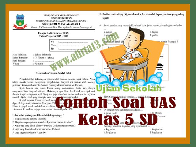 Contoh Soal UAS Kelas 5 SD Format Words
