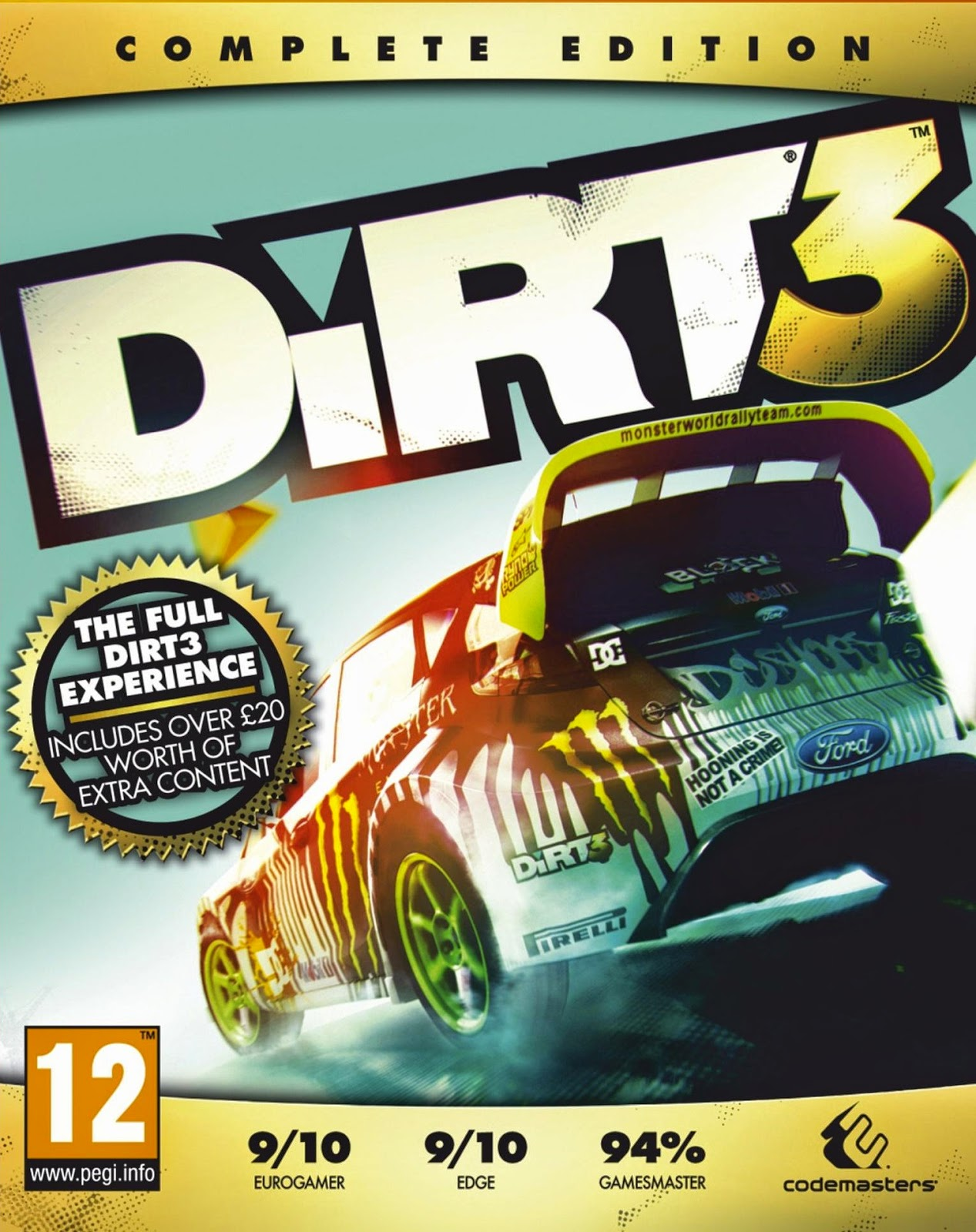 DiRT 3 Complete Edition ESPAÑOL PC Full Cover Caratula