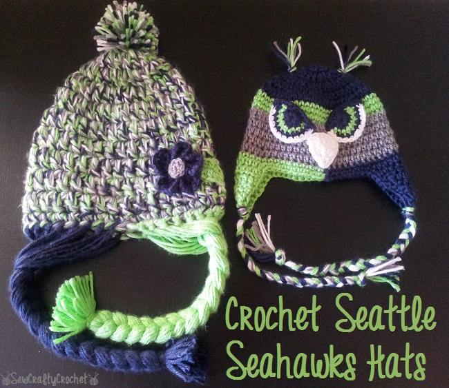 Crochet Seattle Seahawks Hats - Sew Crafty Crochet 00e1d87a58e