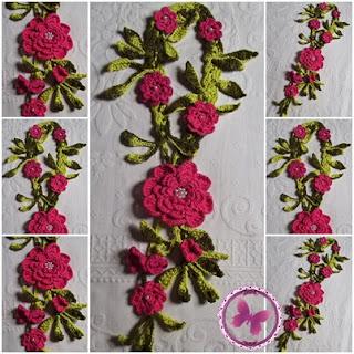 Colar Rústico Floral em Crochê