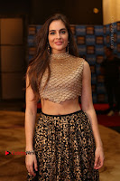 Actress Model Sarah Hopkins Latest Pos in Lehenga Choli at SIIMA Short Film Awards 2017 .COM 0015.JPG
