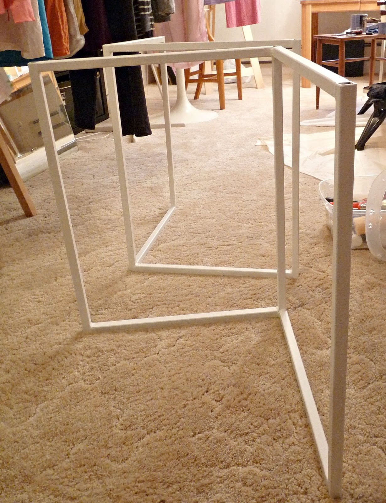 remodelaholic how to build a desk with wood top and metal legs rh remodelaholic com diy desk legs with pipe diy desk legs with pipe