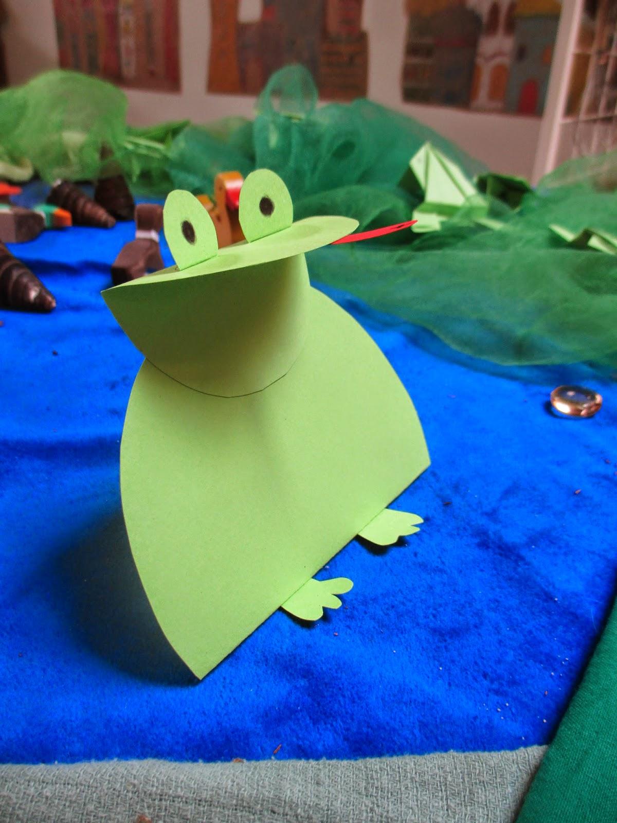 Märlimuus Frosch Basteln Aus Papier Anleitung Und Download
