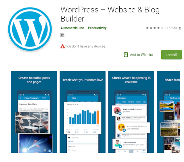 Android app for blogger to make blogger easy . - helps to understand