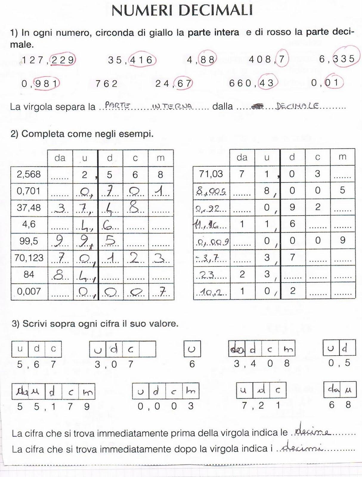 Estremamente Numeri decimali ND51