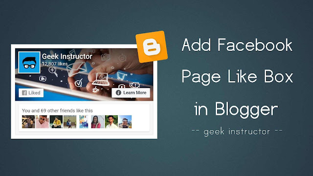 Add Facebook page like box in Blogger