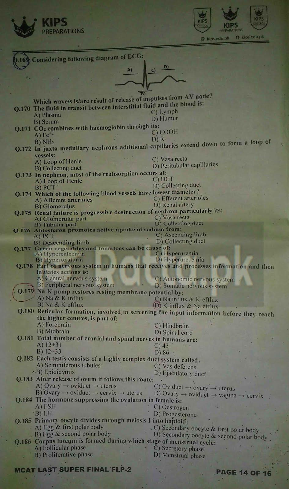 3 KIPS MCAT Biology Full Length Paper-2