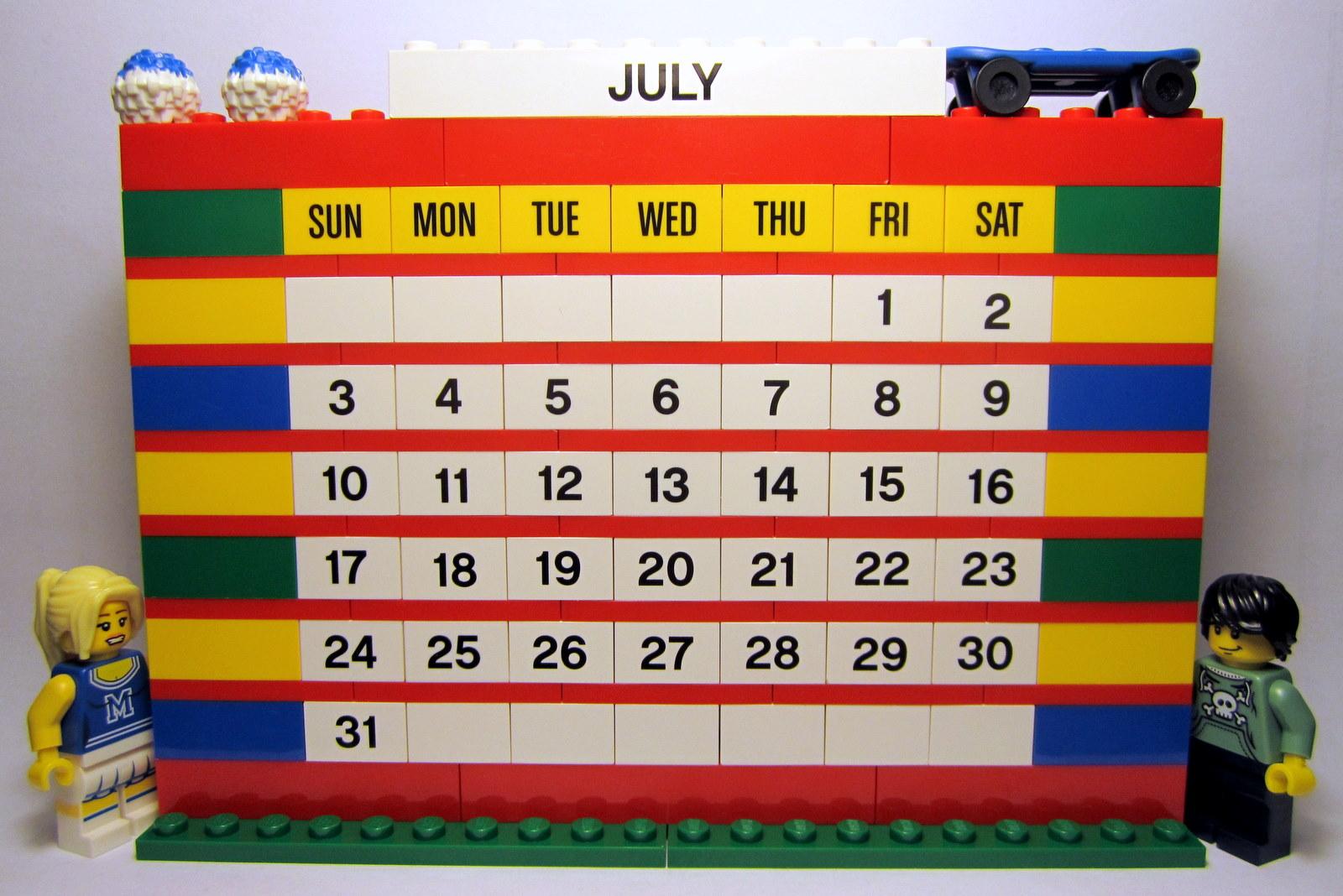 The Brick Brown Fox Lego 853195 Brick Calendar