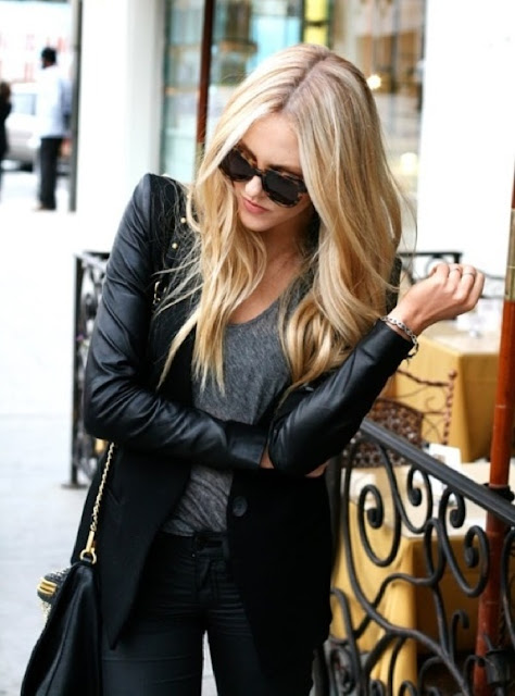 Leather jackets are an autumn must have