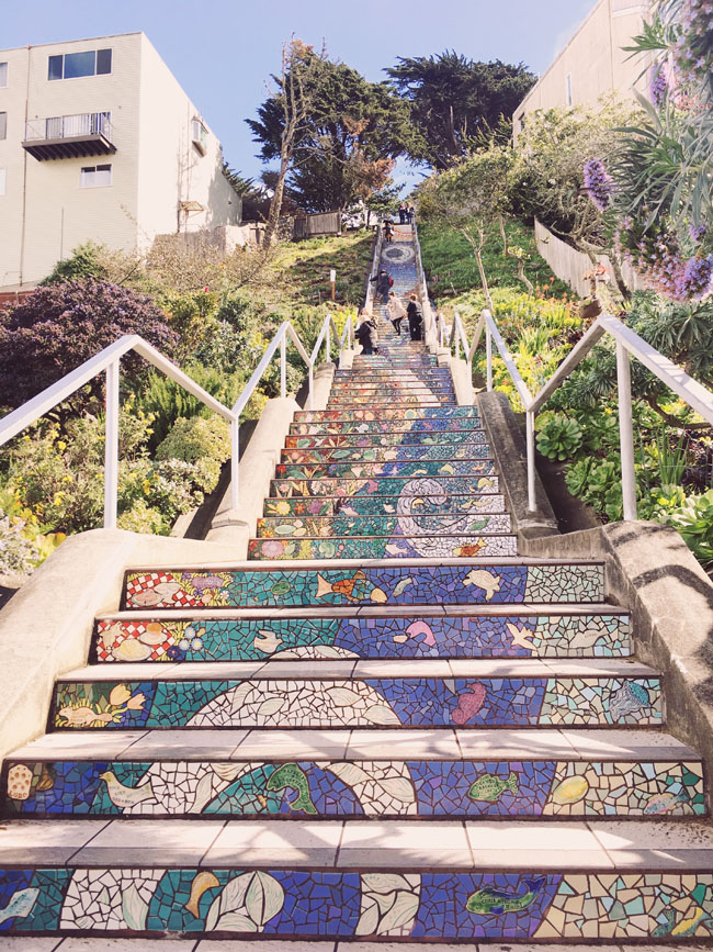 free things to do in San Francisco 16th avenue tiled steps