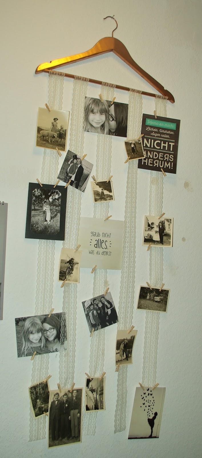 lucciola: [diy] vintage-kleiderbügel-fotowand