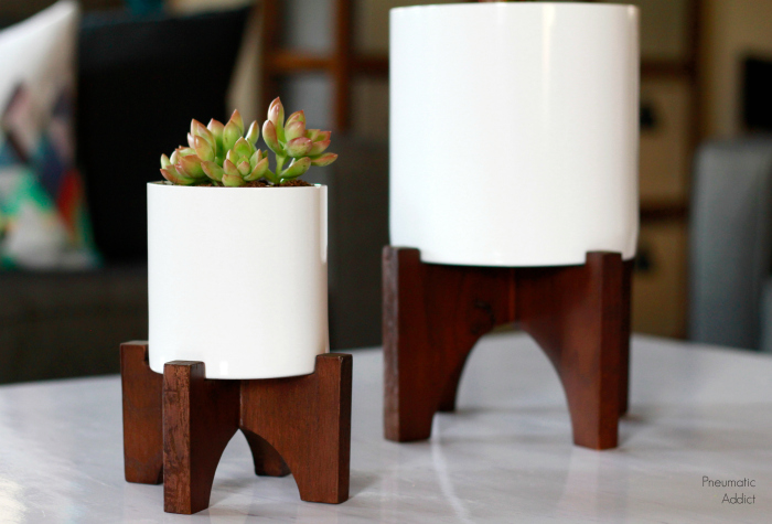 west elm turned leg planter knock off tutorial