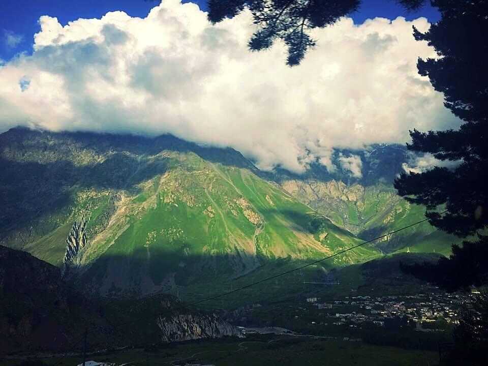 Cloudy Mountains in Kazbegi